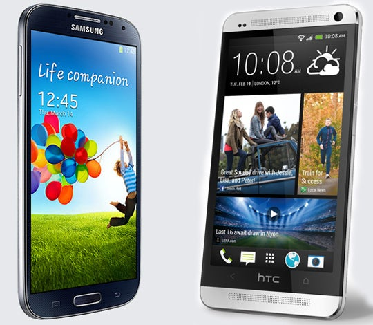 Samsung Galaxy S4 and HTC One Smartphones