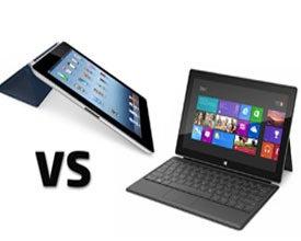 Apple iPad vs. Microsoft Surface tablet