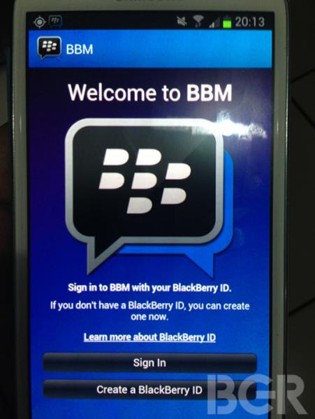 BlackBerry BBM for Android