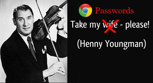 Henny Youngman Take My Chrome Passwords Please