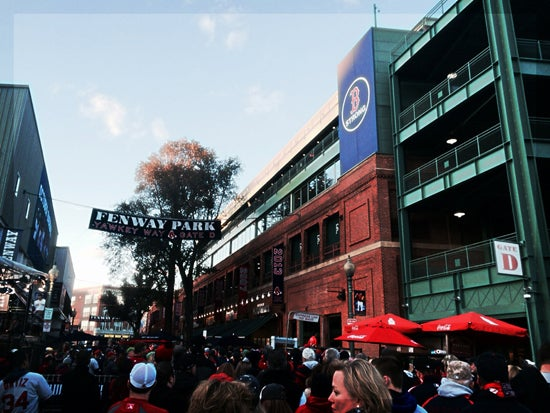 Fenway Park's Yawkey Way Before the 2013 World Series Game 2