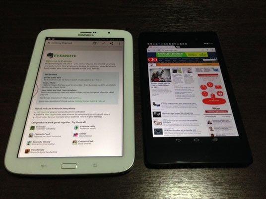 Samsung Note 8 and Google Nexus 7
