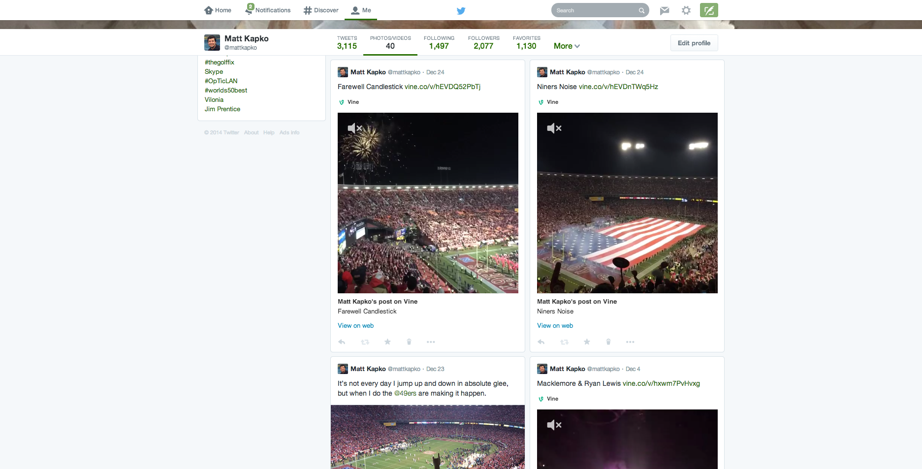 New Twitter media layout