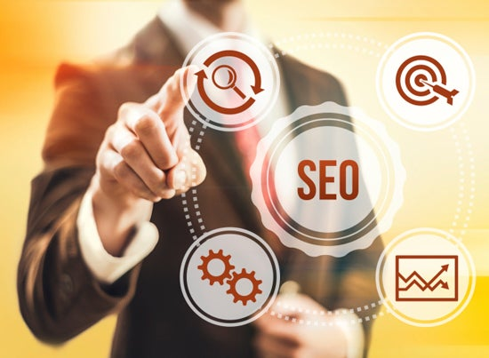 SEO guy with graphic