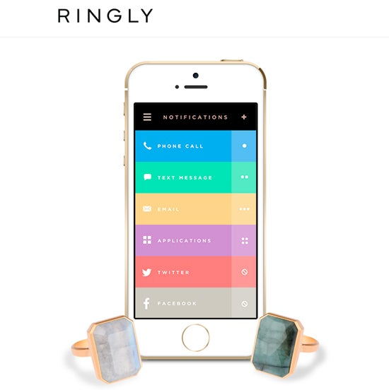 Ringly iPhone App smart ring