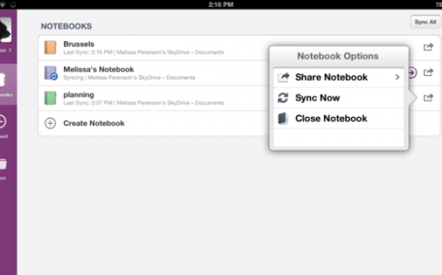 how to delete a notebook in evernote ipad