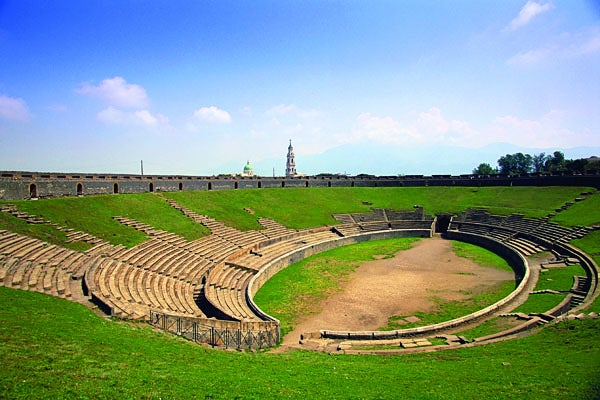 photo of pompeii amphitheater today