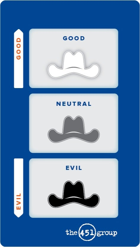 Security Good vs. evil graphic