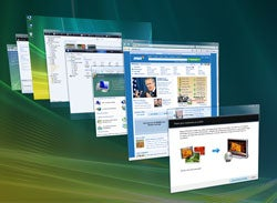 See all your open windows as once with Flip 3D.