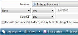 Windows Vista's search tool is sophisticated, fast, and lets you save searches for future reference.