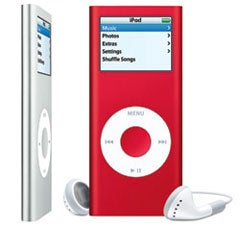 The sleek and stylish iPod Nano. Courtesy of Apple Computer.