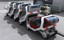 Electric-powered City Cars could be stacked on nearly every block in the city.