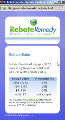 Rebate Remedy Pricing