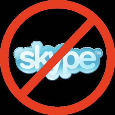block skype