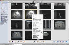 iPhoto's contextual menu offers new options for scanning faces.