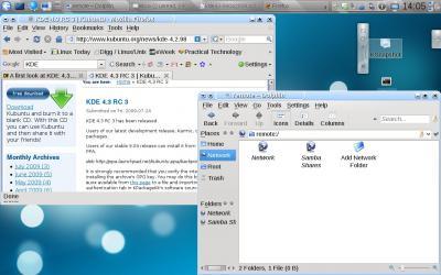 KDE 4.3 at work