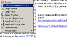 Using the Google Dictionary Accelerator
