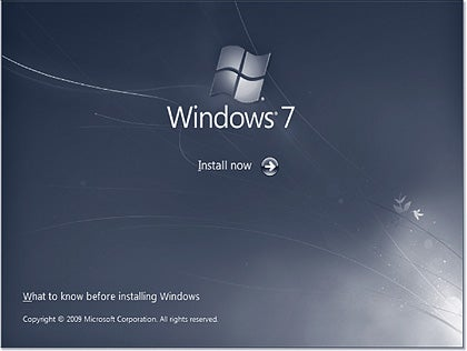 Windows 7 installation screen
