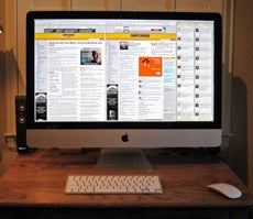 The new 27-in. iMac offers enough screen resolution to display two Web pages with room left over.