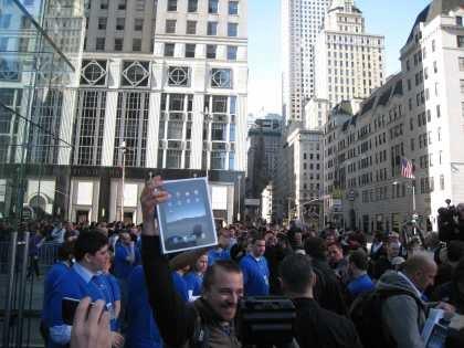 An iPad in NYC