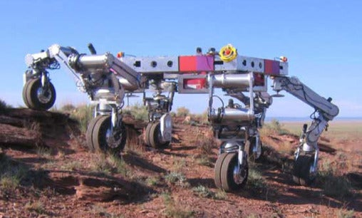 six-legged robotic vehicle