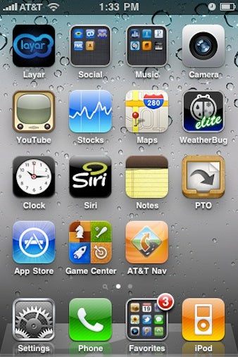 iOS 4 home screen