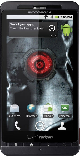 The Droid X smartphone