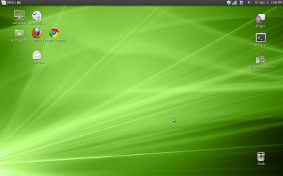 My Mint 9 Linux desktop