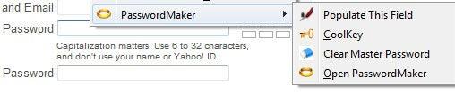 PasswordMaker Firefox extension