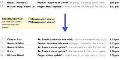 Google Gmail Conversation View