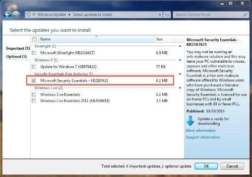 antivirus microsoft security essentials windows 7