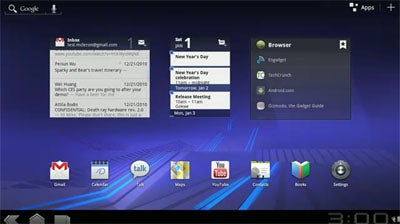Google Android 3.0 Honeycomb