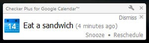 Google Calendar Notification