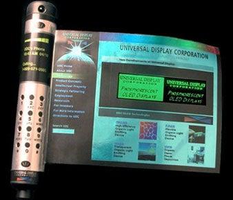 UDC prototyperollable OLED display