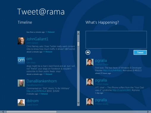 tweet@grama Windows 8