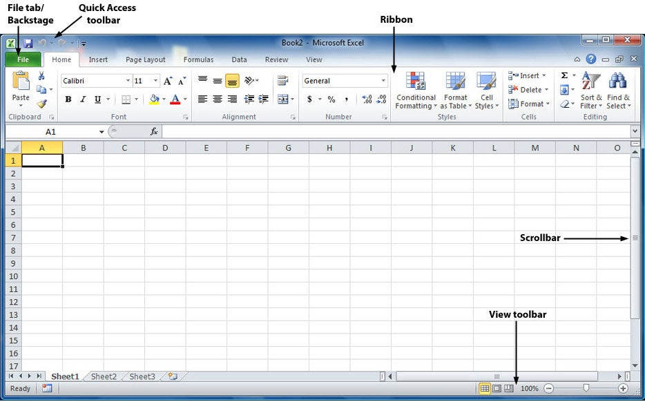 Excel 2010 Interface