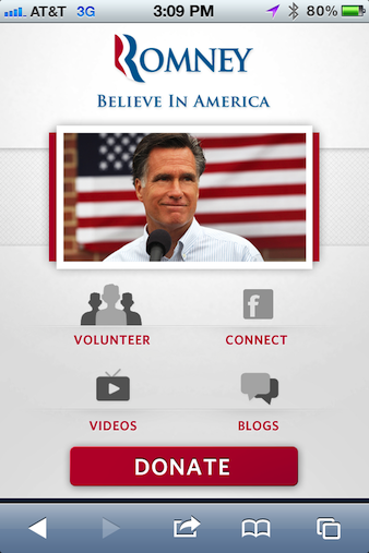 MittRomney.com website