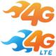 AT&T 4G logos