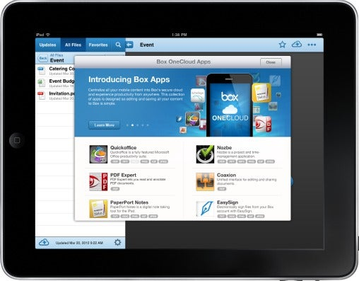 iPad user interface