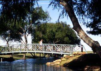 running trail -- bridge