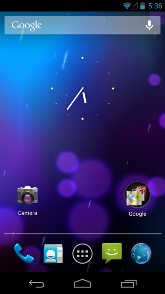 Android 4.1 Jelly Bean - Home Screen