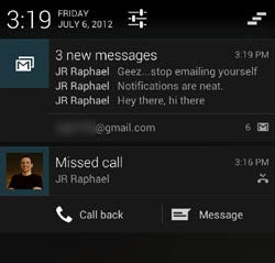 Android 4.1 Jelly Bean Notifications