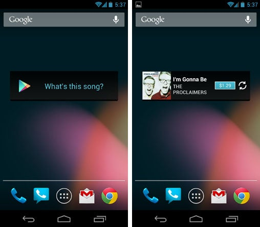 Android 4.1 Jelly Bean Sound Search
