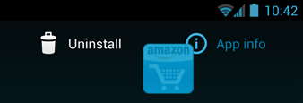 Android 4.0 - uninstalling an app