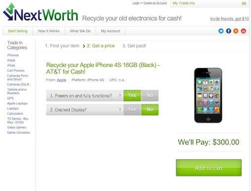 NextWorth iPhone quote