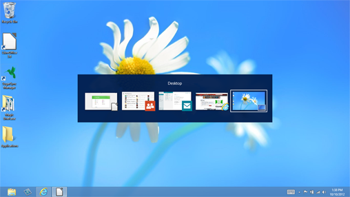 Alt-Tab works in Windows 8