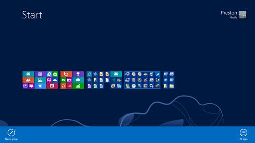 Customizing the Windows 8 Start screen