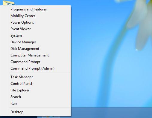 power user tools menu