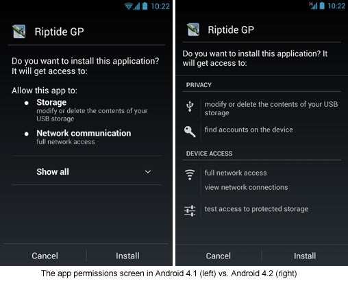 Android 4.2 App Permissions