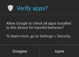 Android 4.2 Security: Verify Apps